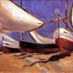 Oil / Boats - 2011 / 400 x 300mm