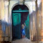 Oil /  Green Door - 2012 / 300 x 400mm