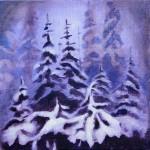 Oil / Winter / 2011/ 250 x 250mm